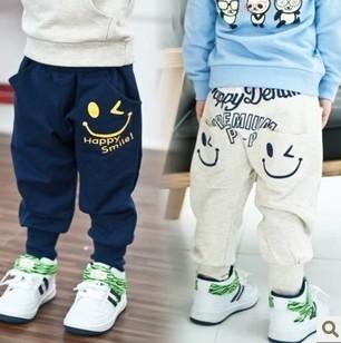 345# детская весной одежды смайлик ребенок шаровары свободного покроя moq 1 шт.