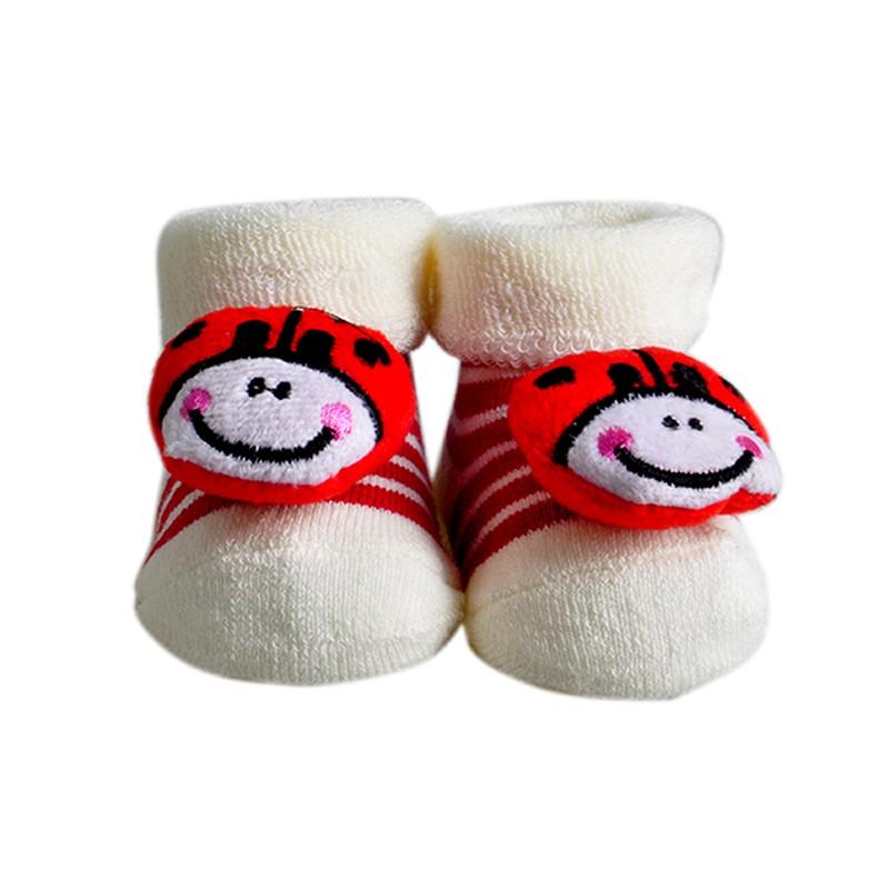 Один пары ребенок носки новорожденного Meias махровые животных цыпленок носки детские зимние носки и гетры