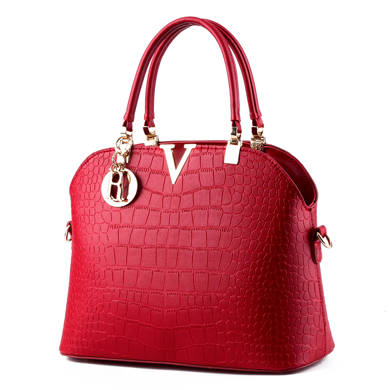 Hot in! New handbag Korean crocodile shell bag fashion handbag Crossbody shoulder handbag wholesale and retail free shipping B38(China (Mainland))
