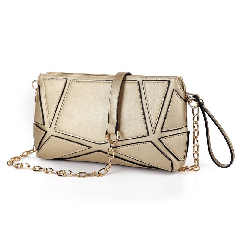 Fashion Patchwork women clutch bag small chain Womens Shoulder messenger bag Handbags Clutches lady evening bags Free shipping <br><br>Aliexpress