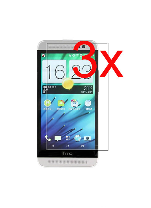 3X Free Shipping Glossy Ultra Clear LCD Film Protective Film Front Phone Screen HD For HTC Tattoo G4(China (Mainland))