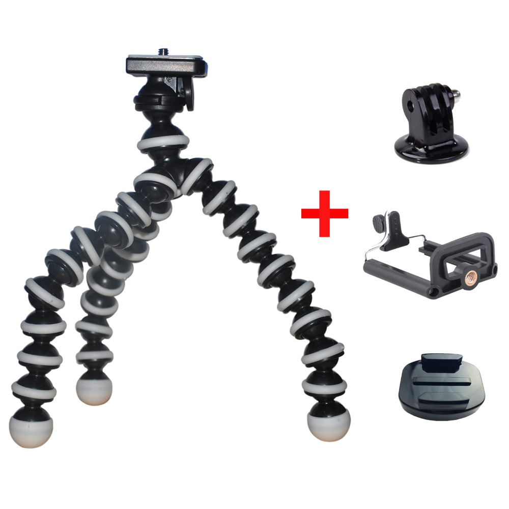 4 in 1 kits accs include Octopus holder and for gopro conversion head and mobile holer and Quick release tripod adapter seat<br><br>Aliexpress