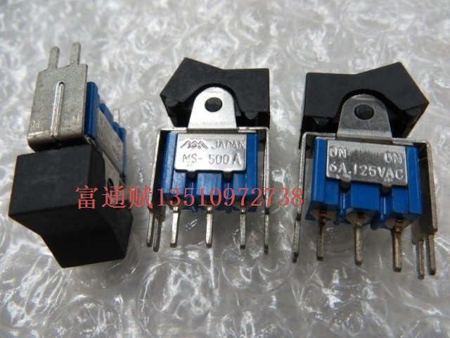 [ BELLA]Japan imported three mountain rocker switch MS-500A 6A125VAC tripod 2 files--20pcs/lot<br><br>Aliexpress