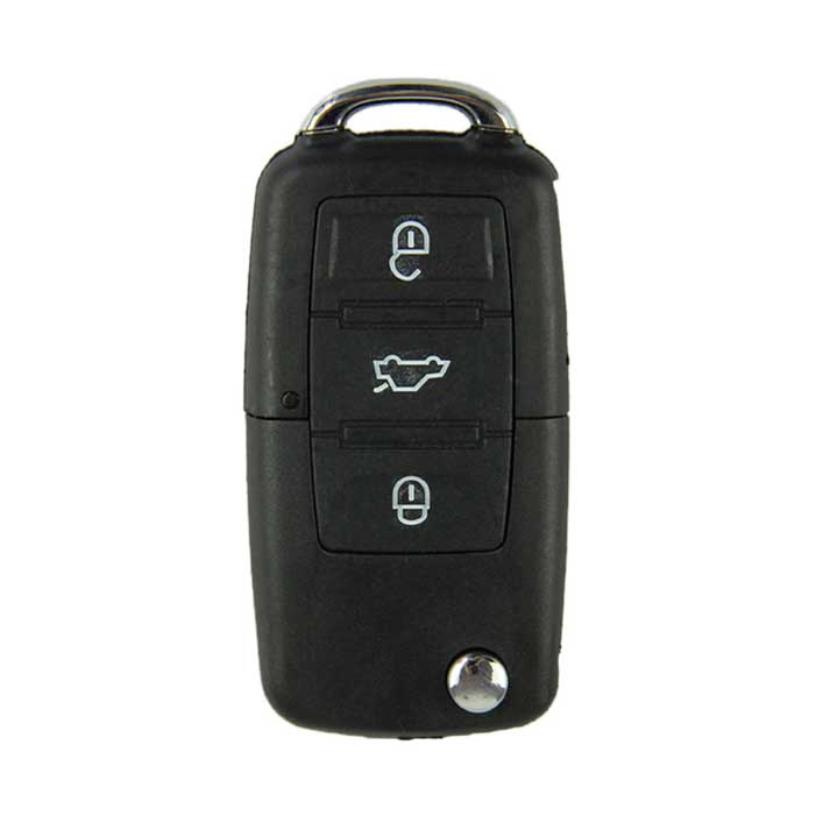 Brand New 3 Buttons Flip Remote Key Shell Audio Car Key Blank Replacement Key Shell Free Shipping 1pcs(China (Mainland))