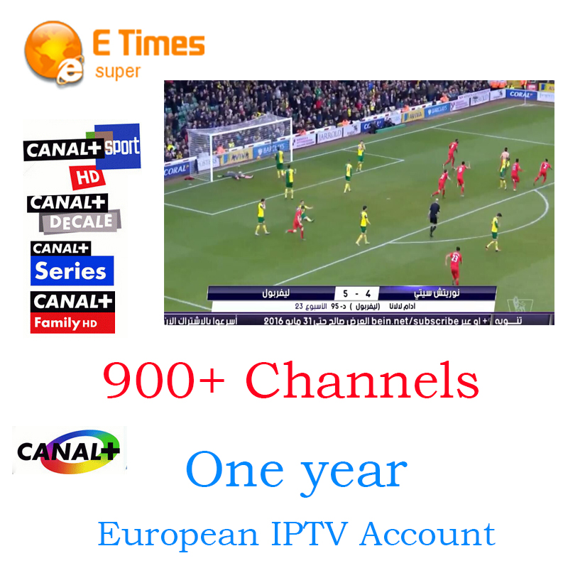 French and Arabic IPTV Live TV 1 Year validity Canal plus MBC Europe UK Germany Italy IPTV for Sports News movies Cartoon lover(China (Mainland))
