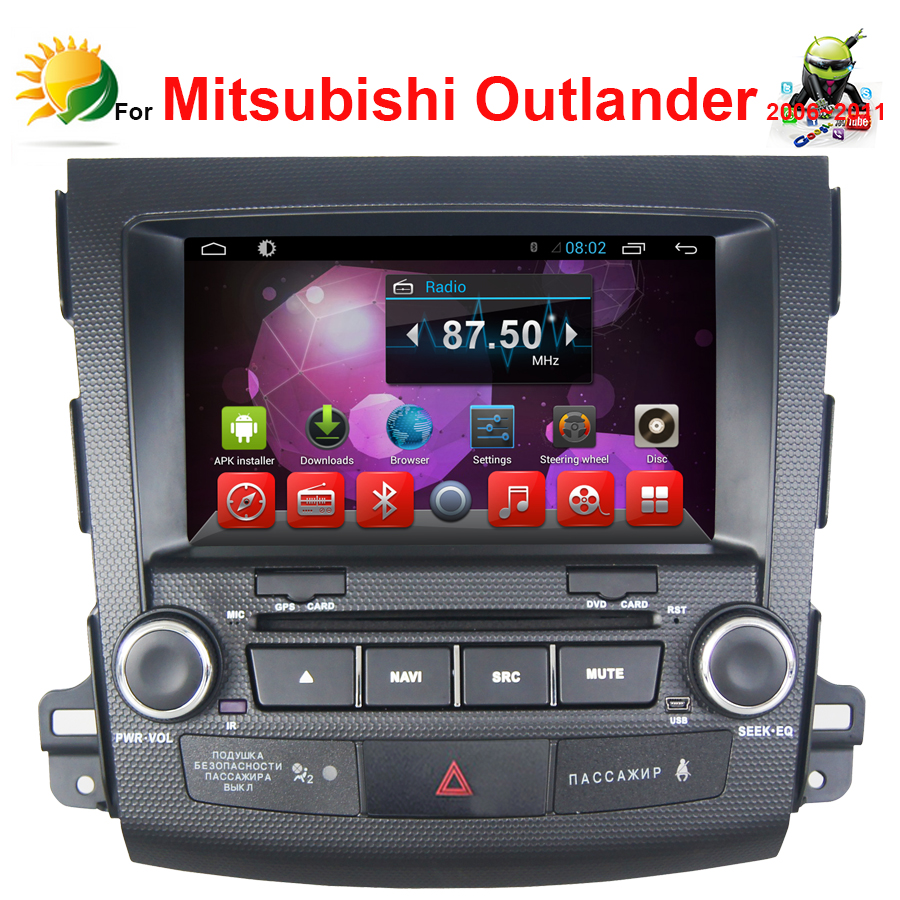 Android 4.4 car audio for Mitsubishi Outlander Double Din Car Radio CD USB MP3 Dvd GPS Navigation System 2 din car dvd player(China (Mainland))