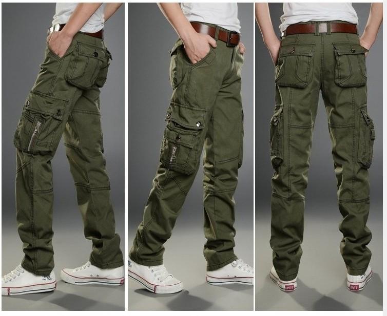 Camo Cargo Pants For Men Slim Trousers Slim Cargo Pants