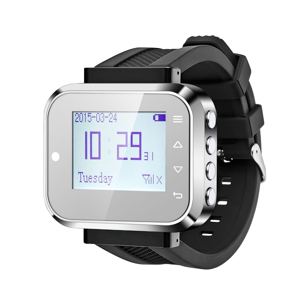 Kerui wireless watch wrist pagers system KR-C166 for hospital,restaurant calling waiter service+8 Wireless Calling launch button(China (Mainland))