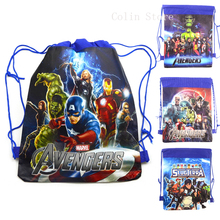 The Avengers Boys Children School Bag Cartoon Kids Drawstring Bag Backpack children Swimming Bags beach Hiking Travel backpack