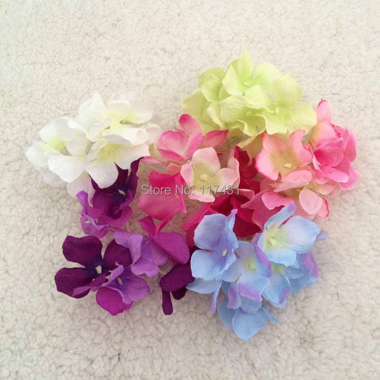 "Free shipping (100pcs/lot) 10cm/3.94"" Artificial Hydrangea flower head Scotland Hydrangea flower head DIY Wedding Decoration(China (Mainland))"