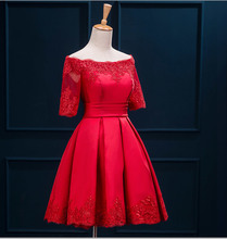 Multi-Colored Red Lace Sexy Girl Homecoming Short Prom Party robe de cocktail Dresses De abiye festa(China (Mainland))