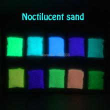 10 colori bagliore luminoso sabbia super luminoso nottilucenti fai da te sabbia che desiderano sabbia 100g glow in the dark per bottiglia che desiderano(China (Mainland))