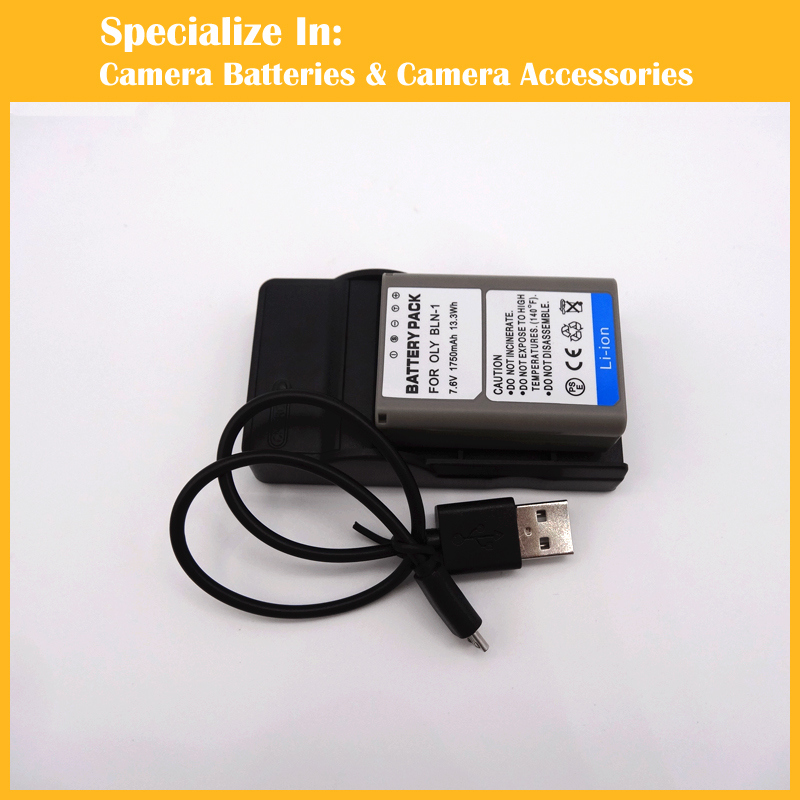 1750mAh High capacity BLN-1 BLN1 digital battery charger set for Olympus PEN E-P5 OMD EM-1 OM-D EM5 OM-D EM5 Mark II(China (Mainland))