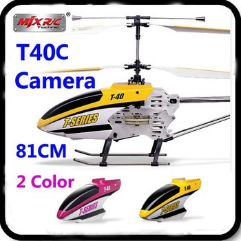 Small Box 81CM 31.8 Inch MJX Huge Large Biggest T40 GYRO 2.4Ghz With Camera Servo 1500mAh T40C T640 Remote Control RC Helicopter