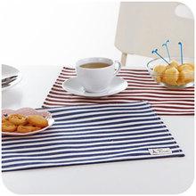 Waterproof cotton fabric table mats, table mats bowl streak insulation pad coaster mat Western pad (China (Mainland))