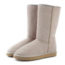 JXANG 高品質ブランド雪のブーツ女性のファッション本革オーストラリアクラシック女性のブーツ冬の女性の雪の靴(China)