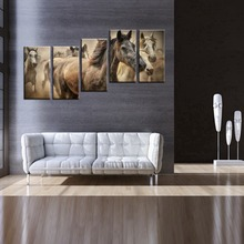 New Arrival Horse Abstract Design Decorative Wall Decal White Horse Oil Painting on Canvas Wall Stickers For Living Rooms Decor(China (Mainland))