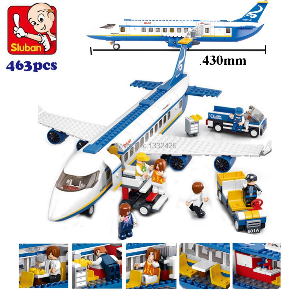 Simple box Sluban M38-B0366 Air bus Plane aviation Building Blocks Transport enlighten aircraft vehicle Toy Bricks set for kids(China (Mainland))