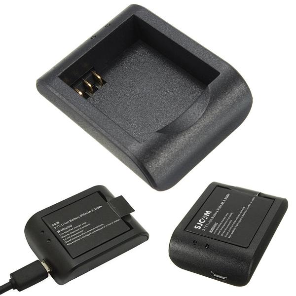 Black USB Port Battery Charging Cradle Desktop Charger For SJ4000 Sport Action Camera Electronics Accessories