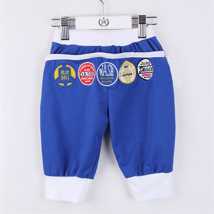 2015 summer new style little boys & girls casual capri pants baby children fashion and hit color capri pants A2030(China (Mainland))