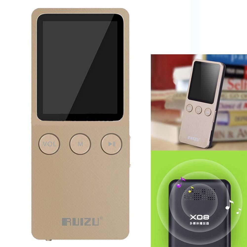 "Gold Color 1.8"" Genuine RUIZU MP4 Player Ultrathin 8GB Hifi Lossless 200 Hours with FM Clock sports Digital Mp4 HD recorder ANG(China (Mainland))"