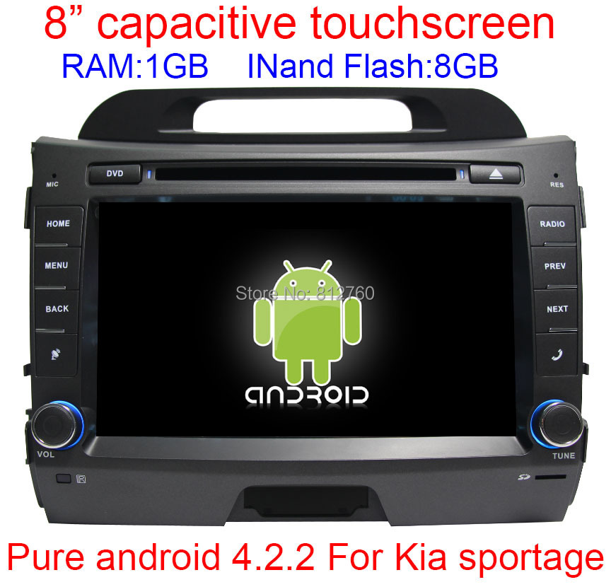 Автомобильный DVD плеер 100% Android 4.2 DVD Kia sportage 2010 2011 GPS BT RDS Wifi автомобильный dvd плеер oem dvd chevrolet cruze 2008 2009 2010 2011 gps bluetooth bt tv