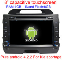 100% Android 4.2 Car DVD for Kia sportage 2010 2011 2012 Capacitive screen GPS Navigation BT Radio RDS Wifi Free shipping