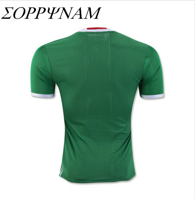 SORRYNAM Green Shirts 2016 MEXICO SOCCER JERSEY HOME Camiseta de futbol MEXICO 2016 jersey local verde FOOTBALL uniform(China (Mainland))