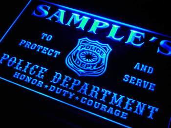 tk-tm Name Personalized Custom Police Station Badge Bar Beer Neon Sign