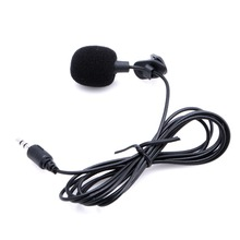 1 PC Mini Hands Free Clip On Lapel Microphone Mic For PC Notebook Laptop Skype 3.5mm(China (Mainland))