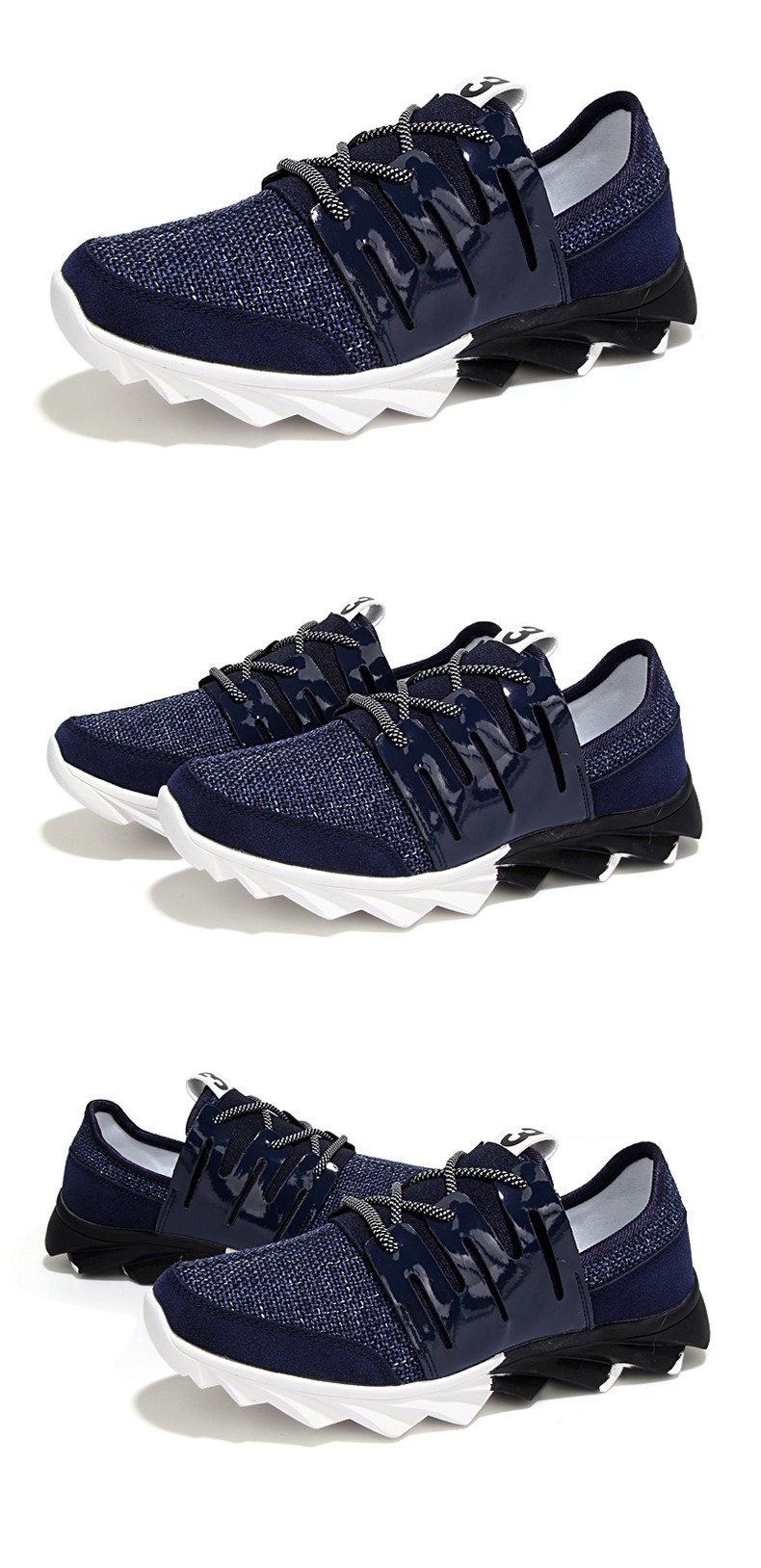 Buy 2016 New Arrival Breathable Air Mesh Men's Casual Shoes Fashion Style For Spring Summer With Knife Shape Rubber Sole cheap
