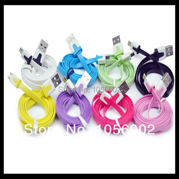 free shipping 200pcs/lot Colorful 1m 3ft Micro USB ChargerFor Samsung HTC BlackBerry Nokia Sony(China (Mainland))
