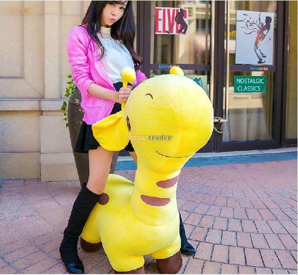 Fancytrader 39'' / 100cm Jumbo Big Plush Stuffed Giant Animal Giraffe Toy, Nice Gift For Kids and Friends, Free Shipping FT50850(China (Mainland))
