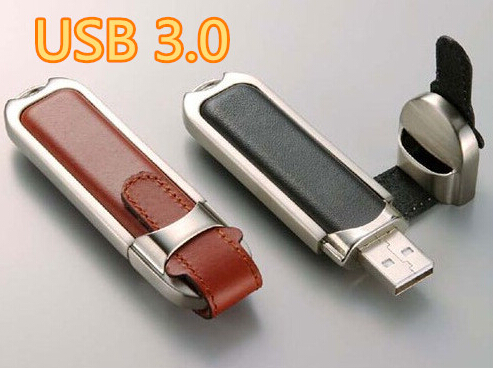 100% New real capacity business leather usb flash drive USB Flash 3. 0 Memory Drive Stick Pen/Thumb/Car usb 32/64/128/256/512GB(China (Mainland))