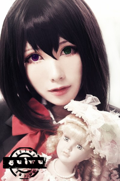 Misaki Mei Black short straight anime cosplay costume wig.synthetic real hair.Free shipping<br><br>Aliexpress