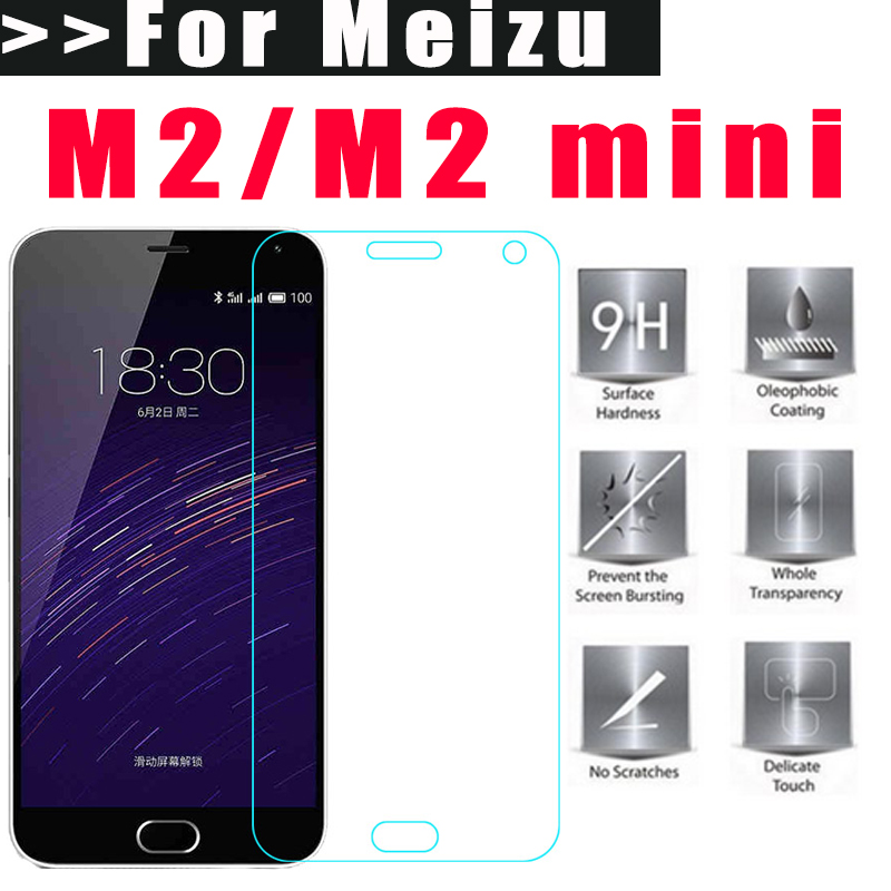 Tempered Glass for Meizu M2 mini 5.0inch 9H 2.5D Premium Screen Protector Film For Meizu M2 mini Cell Phone Easy to Install(China (Mainland))