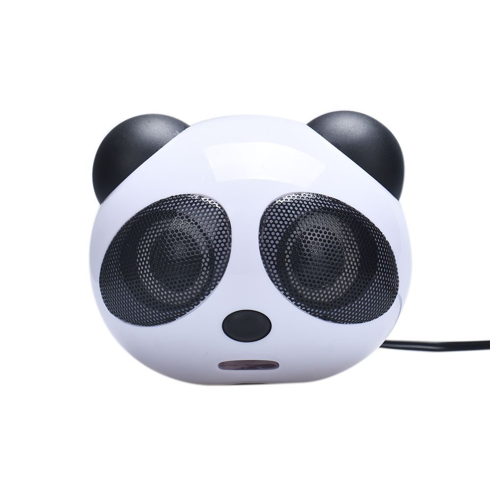 2016 Cute Panda Style USB Subwoofer Speaker Mini Portable Music Player Speaker for Computer Desktop PC #ET428(China (Mainland))