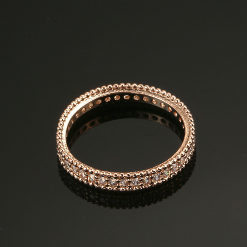 18k gold plated simple classic wedding engagement