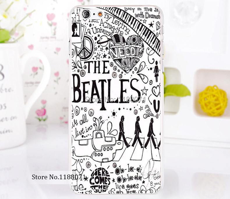 beatles lyrics music phone shall Style For iPhone 6 6s 6g iphone 6+ 6 plus Transparent Case Hard Clear Cover New arrival(China (Mainland))