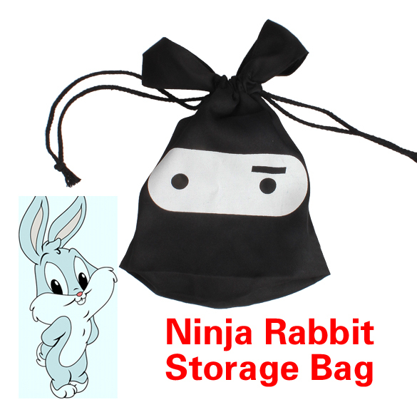 All Purpose Multifunction Travel Lunch Ninja Rabbit Pouch Laundry Drawstring Storage Bag PTSP(China (Mainland))