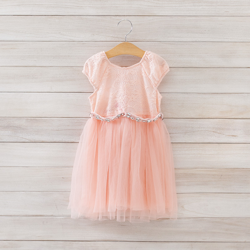 2015 Girls summer high quality lace gauze dress , dress for girl , 3-7Years , 5pcs/lot   LXJ42<br>