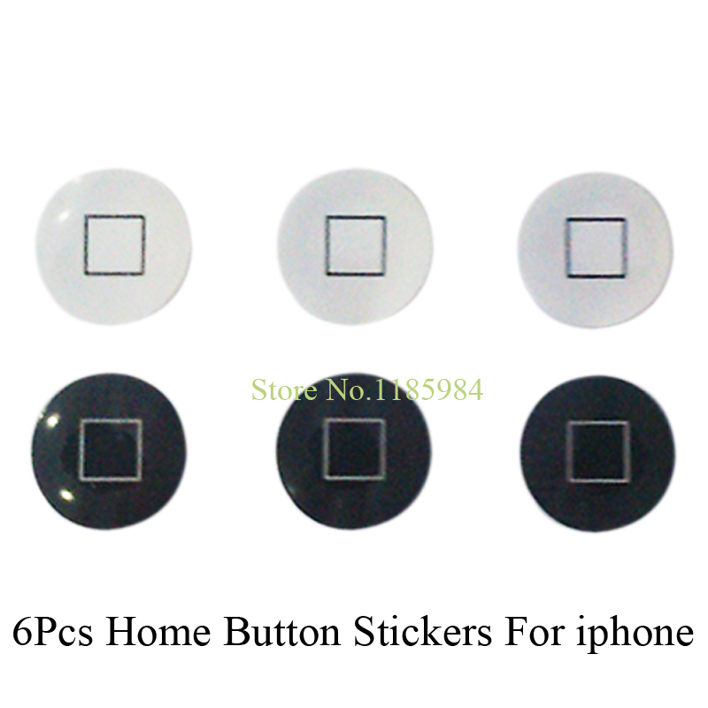 Wholesale 6pcs/lot Gift New 2015 DIY Sticker Home Button Key Stickers For iphone 4 5s 6 Plus Logo Cover Protector Little Gadgets(China (Mainland))
