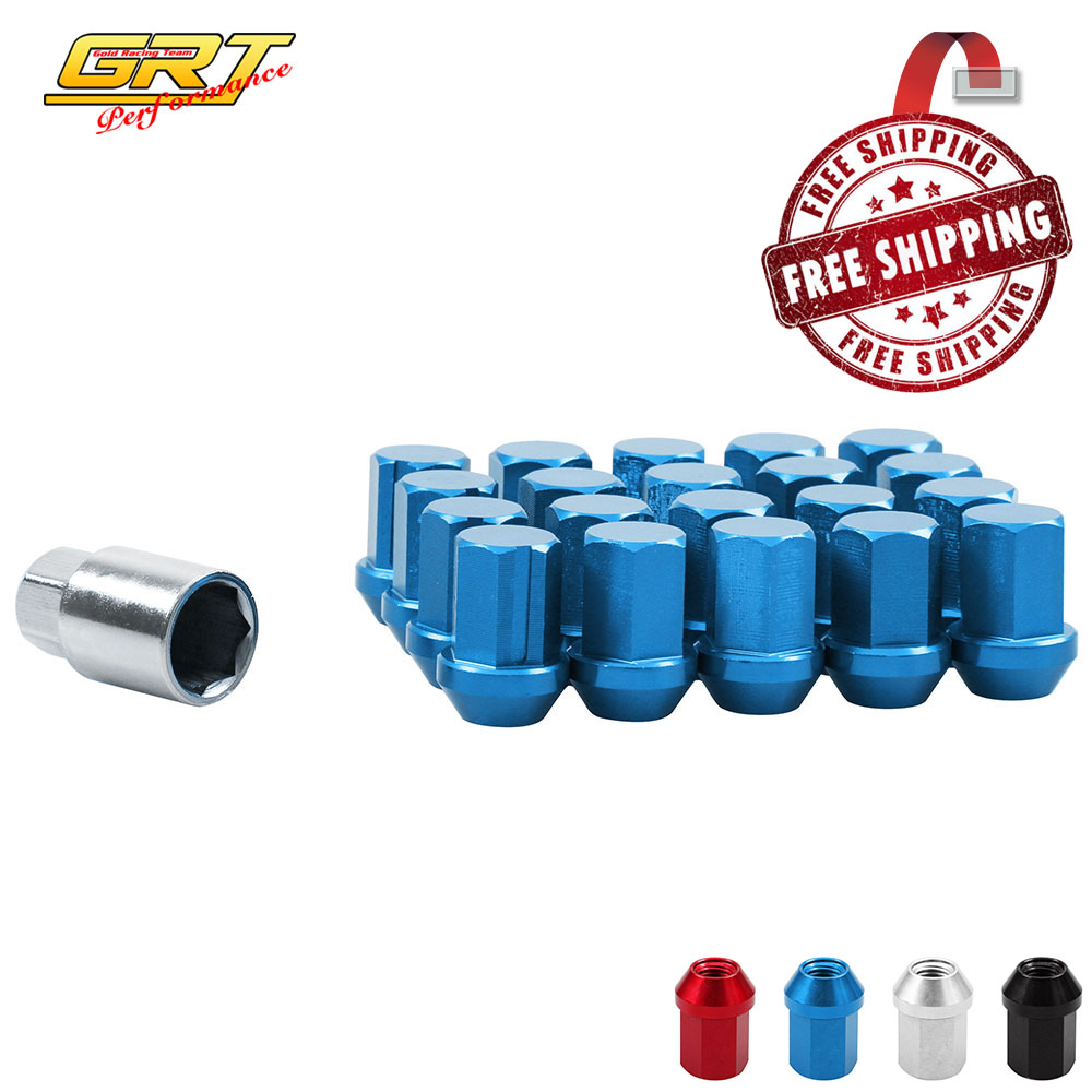 GRT - Free Shipping 20PCS 35MM Wheel Nuts Race Lock Lug Nuts M12X1.5 / M12X1.25 Acorn RIM FORGED For Honda Civic without Logo(China (Mainland))