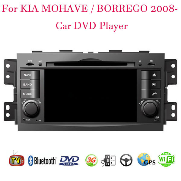 1024*600 Android 4.4.4 Fit Kia MOHAVE BORREGO 2008 2009 2010 2011 2012 2013 2014 2015 Car DVD Player GPS TV 3G Radio WIFI(China (Mainland))