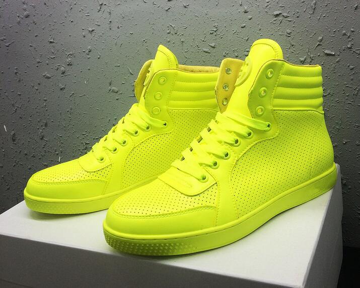 High Top Shoes for Lovers Lace-up Men/ Women Lemon/ Pink/ Green/ Orange Color Brand Designer Casual Shoes<br><br>Aliexpress