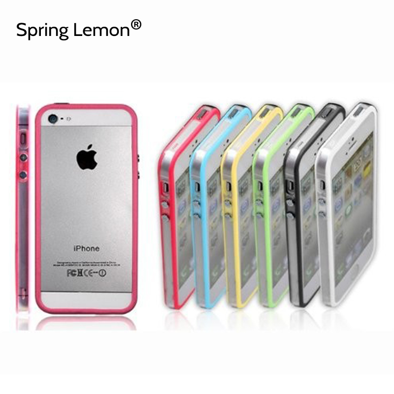 Spring Lemon 2016 New Popular Cell Phone Transparent Bumper Protection For iPhone 5 5S SE Case(China (Mainland))