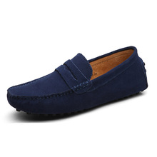 Hot Sell Men Shoes Fashion genuine Leather Men's Flats Slip On Men Loafers Moccasins Drving shoesMale Shoes
