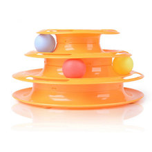 New 2016 Hot Sale Top Quality Funny Cat Pet Toy Cat Toys Intelligence Triple Play Disc Cat Toy Balls 233g Weigth Free Shipping(China (Mainland))