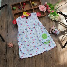 MK Free Shipping Style Baby Dress Princess for Infant Summer Multicolor Stripes Baby Girl Dresses Newborn Girls Cotton Clothes(China (Mainland))