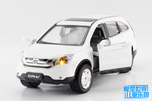 Diyaduo simulation model of children's toys Honda 1:32 alloy automobile CRV two door version of the white light Warrior(China (Mainland))